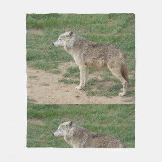 Cobertor De Velo Cobertura canina do velo do lobo de madeira