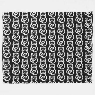 Cobertor De Velo Cobertura celta do velo do gato do nó branco da