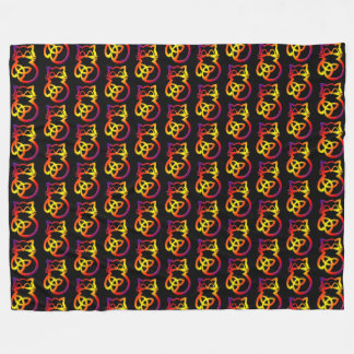 Cobertor De Velo Cobertura celta do velo do gato do nó da trindade