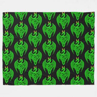 Cobertor De Velo Cobertura celta verde do velo do dragão