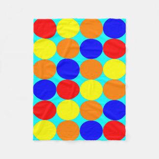 Cobertor De Velo Cobertura: Círculos coloridos, base ciana