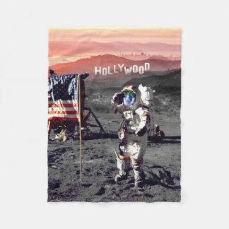 Cobertor De Velo Cobertura - cobertura do velo do homem da lua de