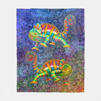 Cobertor De Velo Cobertura colorida do camaleão da pantera