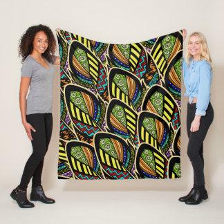 Cobertor De Velo Cobertura colorida do velo das penas