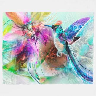 Cobertor De Velo Cobertura colorida do velo do colibri