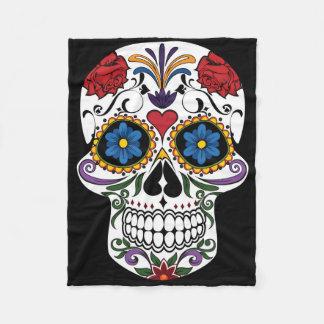 Cobertor De Velo Cobertura colorida do velo do crânio do açúcar