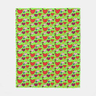 Cobertor De Velo Cobertura colorida do velo do verde limão dos