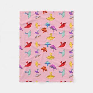 Cobertor De Velo cobertura colorida do velo dos cogumelos