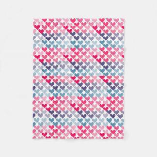 Cobertor De Velo Cobertura colorida do velo dos corações