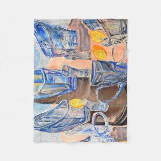 Cobertor De Velo Cobertura com vidros e limões