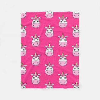 Cobertor De Velo Cobertura cor-de-rosa bonito do unicórnio