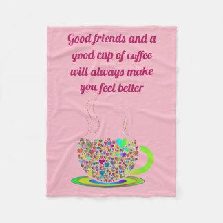 Cobertor De Velo Cobertura cor-de-rosa do sherpa do café