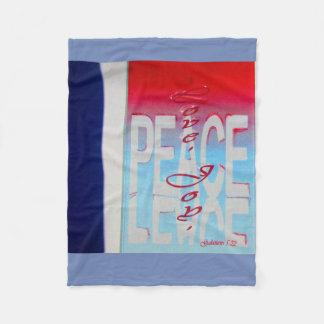 Cobertor De Velo Cobertura cristã branca e azul vermelha