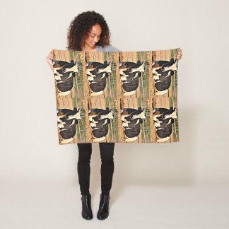 Cobertor De Velo Cobertura curta do velo da vaca do chifre