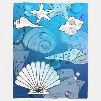 Cobertor De Velo Cobertura da casa de praia do oceano do Aqua dos