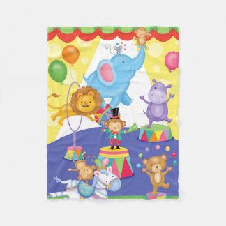 Cobertor De Velo Cobertura da flanela do divertimento do circo