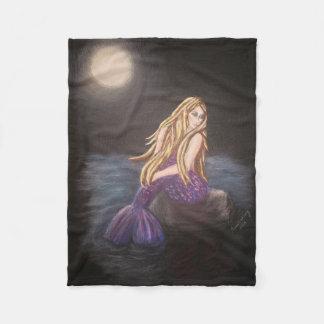 Cobertor De Velo Cobertura da meia-noite do velo da sereia