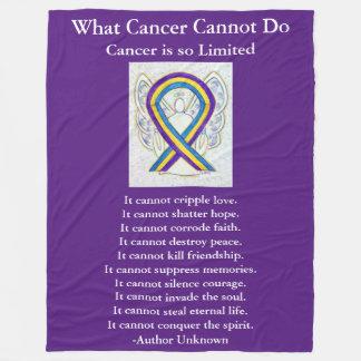 Cobertor De Velo Cobertura de Chemo da arte da fita da consciência