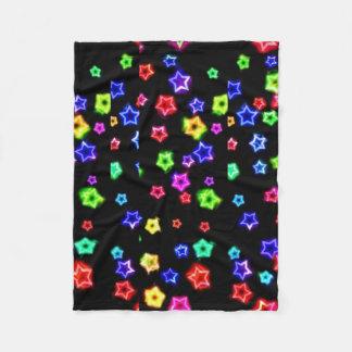 Cobertor De Velo Cobertura de néon do velo do arco-íris
