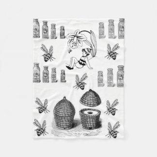 Cobertor De Velo Cobertura decorativa branca do velo do preto da