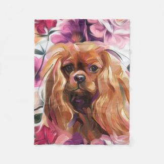 Cobertor De Velo Cobertura descuidado do velo da arte do cão do