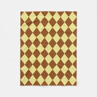 Cobertor De Velo Cobertura: Diamantes Khaki e da sela de Brown