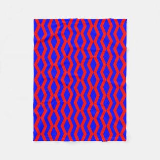 Cobertor De Velo Cobertura: Diamantes ligados do vermelho azul