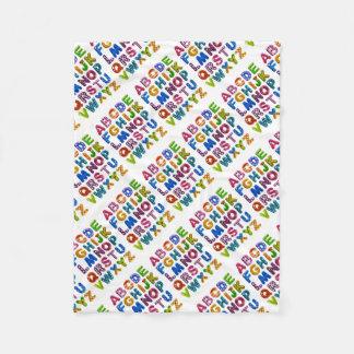 Cobertor De Velo Cobertura do alfabeto