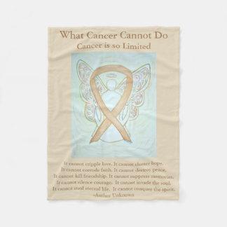 Cobertor De Velo Cobertura do anjo da fita da consciência do cancer