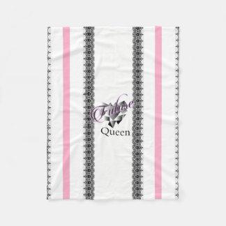 """Cobertor De Velo """"Cobertura do bebê da rainha futura"""""""