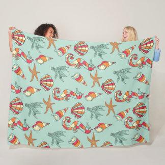 Cobertor De Velo Cobertura do cavalo marinho, da estrela do mar e