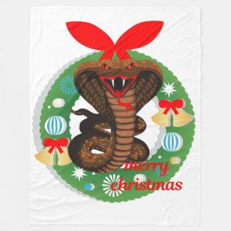 Cobertor De Velo cobertura do cobra da cobra do Feliz Natal