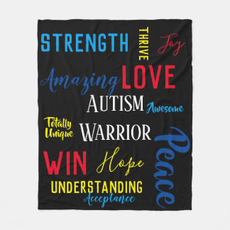 Cobertor De Velo Cobertura do guerreiro do autismo