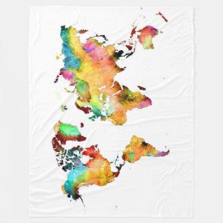 Cobertor De Velo cobertura do mapa do mundo