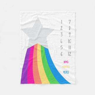 Cobertor De Velo Cobertura do marco miliário do bebê da estrela do