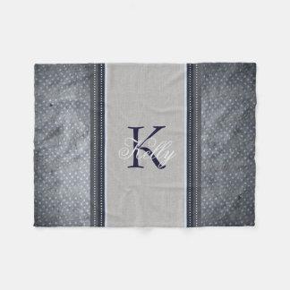 Cobertor De Velo Cobertura do monograma das estrelas