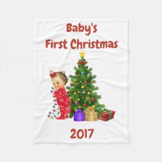 Cobertor De Velo Cobertura do Natal do bebê primeira