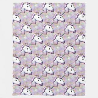 Cobertor De Velo cobertura do quarto do emoji do unicórnio do