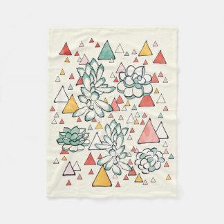 Cobertor De Velo Cobertura do Succulent e do velo dos triângulos