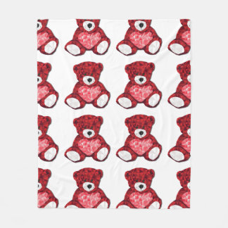 Cobertor De Velo Cobertura do urso de ursinho do amor
