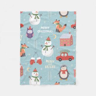 Cobertor De Velo Cobertura do velo - bichos do Natal