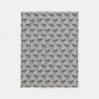 Cobertor De Velo Cobertura do velo da agitação da zebra do bebê
