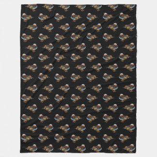 Cobertor De Velo Cobertura do velo da agitação do mandarino (preto)