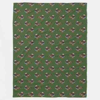Cobertor De Velo Cobertura do velo da agitação do mandarino (verde