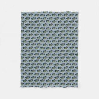 Cobertor De Velo Cobertura do velo da agitação do Piranha (azul)
