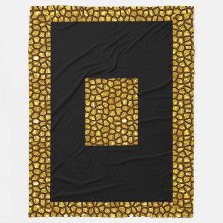 Cobertor De Velo Cobertura do velo da febre do ouro, grande