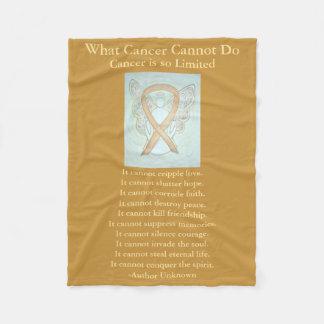 Cobertor De Velo Cobertura do velo da fita da consciência do cancer