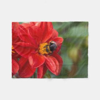 Cobertor De Velo Cobertura do velo da flor e da abelha