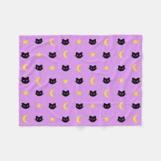 Cobertor De Velo Cobertura do velo da lua do gato do gatinho e do
