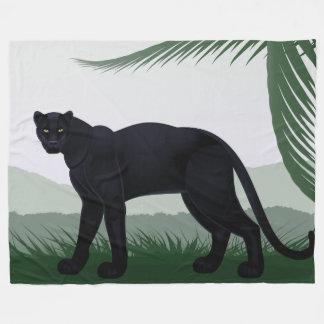 Cobertor De Velo Cobertura do velo da pantera preta da selva grande